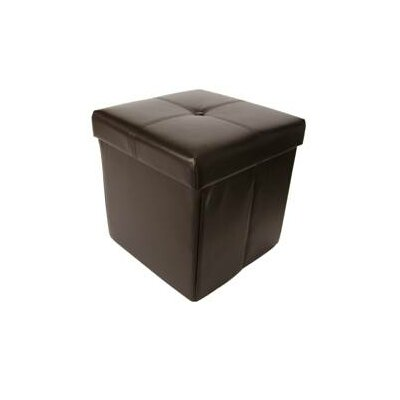 Cube Upholstered Storage Ottoman by Hodedah