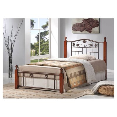 Reese Metal Panel Bed by Hodedah