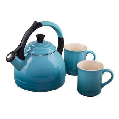 Le Creuset Enamel On Steel 3 Piece 1.7 Qt. Peruh Tea Kettle & Mug Set