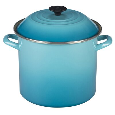 Enamel On Steel 10 Qt. Stock Pot with Lid by Le Creuset