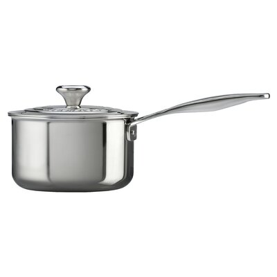 Stainless Steel Saucepan with Lid by Le Creuset
