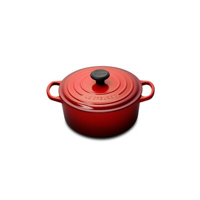 4.5 Quart Round Dutch Oven in Cherry by Le Creuset