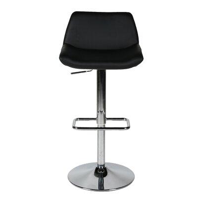 Maya Adjustable Height Swivel Bar Stool with Cushion by Whiteline Imports