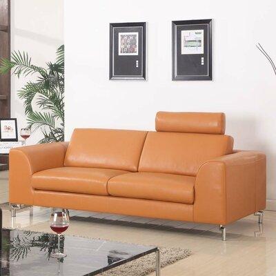 Angela Leather Sofa by Whiteline Imports