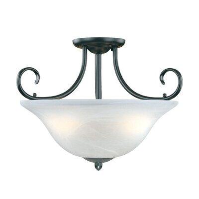 Main Street 3 Light Semi-Flush Mount Product Photo