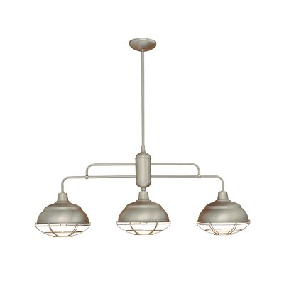 Neo-Industrial 3 Light Kitchen Island Pendant Product Photo