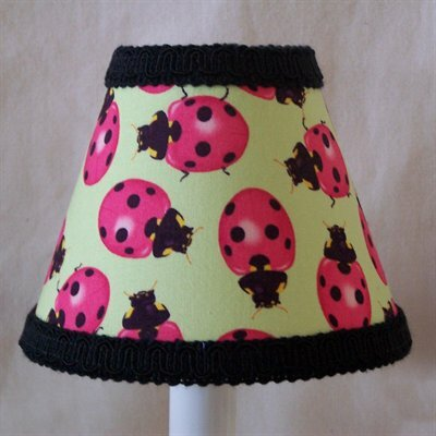Lady Bug Madness Table Lamp Shade by Silly Bear