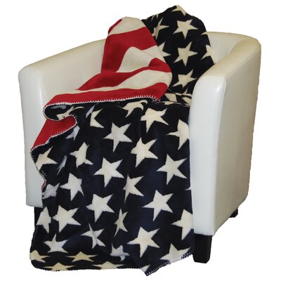 Denali Throws  Stars and Stripes Double-Sided Throw