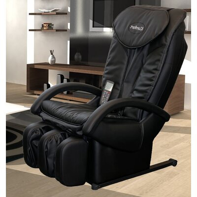 Faux Leather Zero Gravity Massage Chair with Ottoman by iComfort