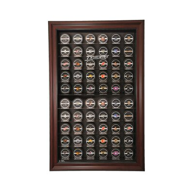 Caseworks International Sixty Puck Cabinet Style Display Case in Mahogany