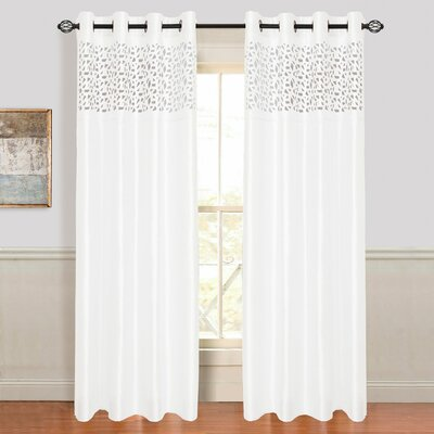 Karla Laser Cut Grommet Single Curtain Panel Product Photo