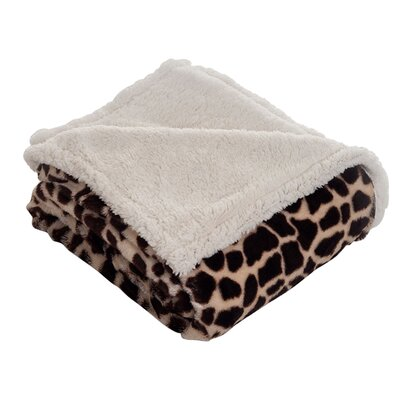 Lavish Home Giraffe Throw Blanket