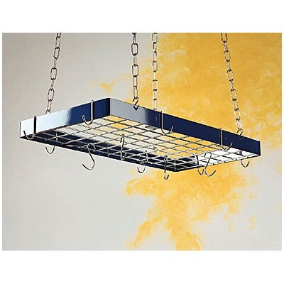Custom Rectangle Ceiling Mount Pot Rack with Grid by Rogar