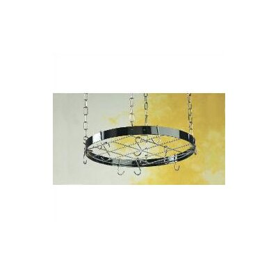 Gourmet Round Hanging Pot Rack with Grid by Rogar