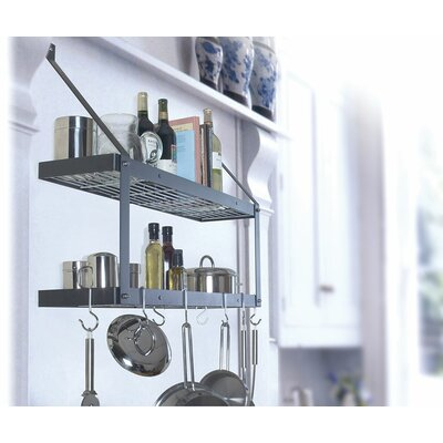 Rogar Gourmet Custom Wall Mounted Double Pot Rack