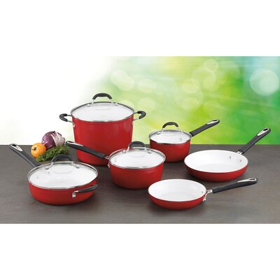 Elements 10 Piece Non-Stick Ceramic Cookware Set by Cuisinart