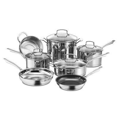 Professional 11 Piece Non-Stick Stainless Steel Cookware Set by Cuisinart