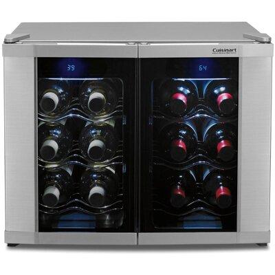 Wine Cellar 12 Bottle Dual Zone Freestanding Wine Refrigerator by Cuisinart