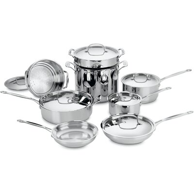 Chef's Classic Stainless Steel 14 Piece Cookware Set in Stainless Steel by Cuisinart