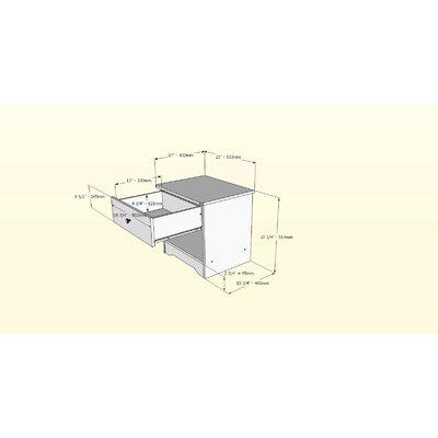 Nexera Pocono 1 Drawer Nightstand
