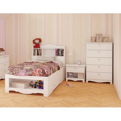 Nexera Dixie Storage Platform Customizable Bedroom Set