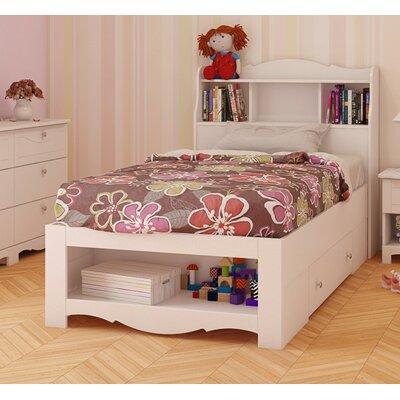 Dixie Storage Bed and Bookcase Headboard by Nexera