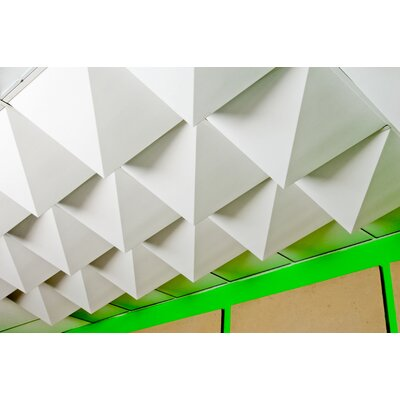 Mio Culture FoldScapes Peak 2 ft. x 2 ft. Drop-In Ceiling Tile in White