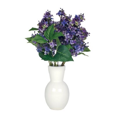 Artificial Lilac in Ceramic Vase by House of Silk Flowers