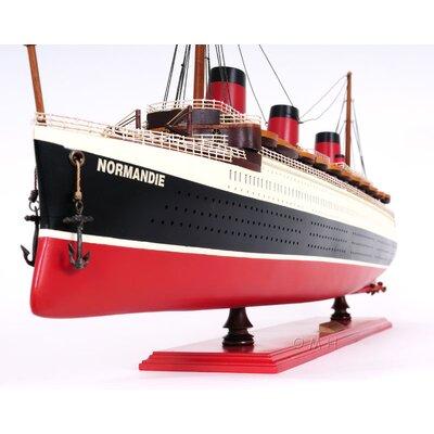 Old Modern Handicrafts Normandie Large Painted Model Boat
