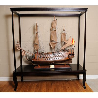 Old Modern Handicrafts X- Large Display Case For Ship No Glass
