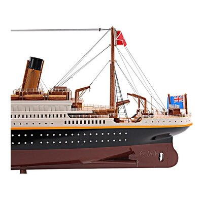 Old Modern Handicrafts Medium Titanic Painted Model Ship