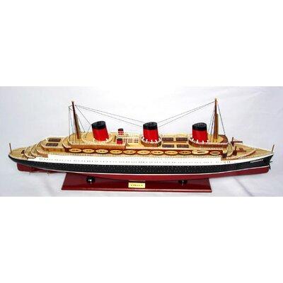 Old Modern Handicrafts Normandie Painted Model Ship