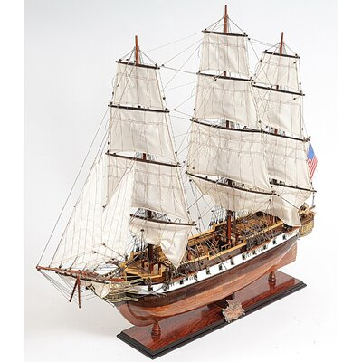 Old Modern Handicrafts USS Constellation Model Boat