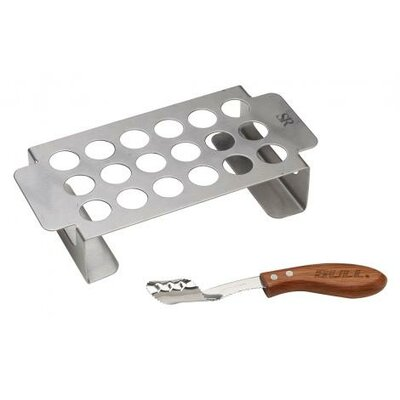 Stainless Chili Pepper Grill Rack and RW Corer Set by Bull Outdoor