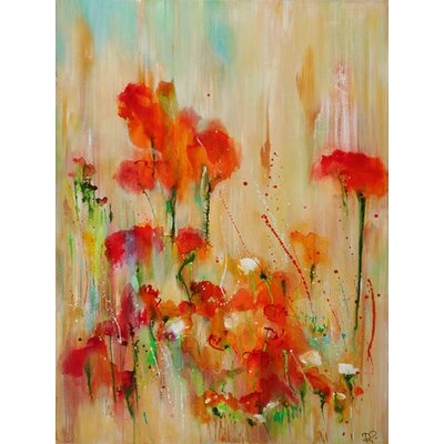 Tangerine Pops by Deborah Brenner Painting Print on Wrapped Canvas by GreenBox Art