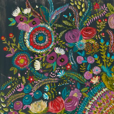 'Garden at Midnight' by Bari J. Painting Print on Canvas by GreenBox Art