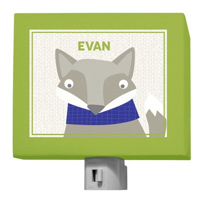 Happy Fox Evan Night Light by GreenBox Art