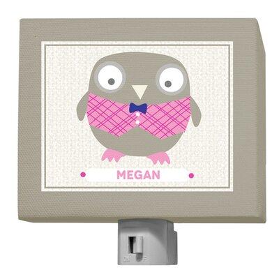 Happy Owl Megan Night Light by GreenBox Art