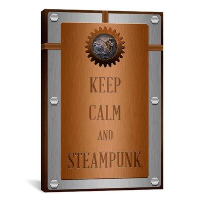 iCanvas Keep Calm and Steampunk Textual Art on Canvas