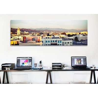 iCanvas Panoramic San Gabriel Mountains, Hollywood, City of Los Angeles, California Photographic Print on Canvas