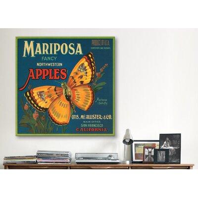 iCanvas Mariposa Apples Vintage Crate Label Cancas Wall Art