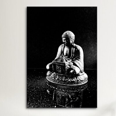 iCanvas Stone Buddha Sculpture Photographic Print on Canvas