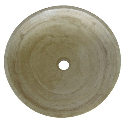 Natural Travertine Vessel Bathroom Sink Product Photo