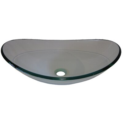 Slipper Glass Vessel Bathroom Sink Product Photo