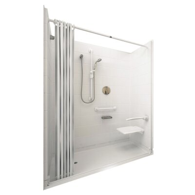 Elite Barrier Free Roll in System 4 Panels Shower Wall Product Photo