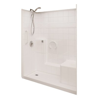 Prestige Low Threshold System 3 Panels Shower Wall Product Photo
