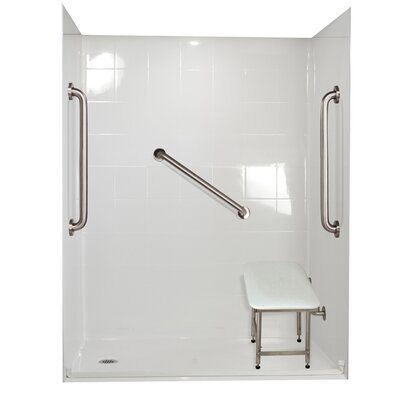 Standard Plus 24 Barrier Free Roll in System 4 Panels Shower Wall Product Photo