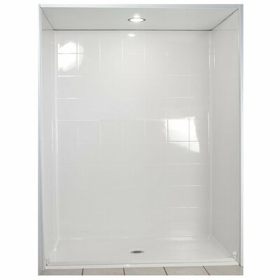 Standard Barrier Free Roll in System 4 Panels Shower Wall Product Photo