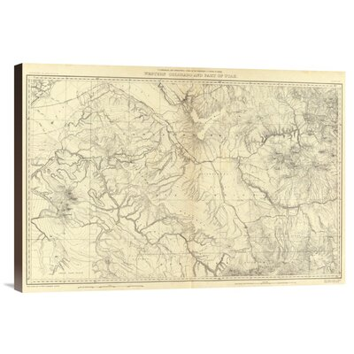 'Western Colorado and Part of Utah, 1881' by F.V. Hayden Graphic Art on Canvas by ...
