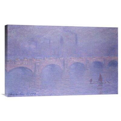 Bentley Global Arts 'Waterloo Bridge, Misty Sunshine' by Claude Monet Painting Print on Canvas